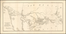 Southwest and California Map By U.S. War Department