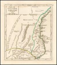 East Africa Map By Gilles Robert de Vaugondy