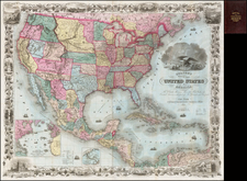 United States Map By Colton  &  J.S. Thayer