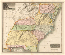 Mid-Atlantic, South, Southeast and Midwest Map By John Thomson