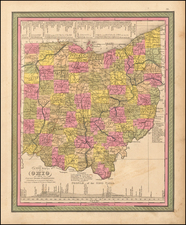 Ohio Map By Samuel Augustus Mitchell