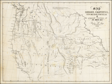 South, Texas, Plains, Southwest, Rocky Mountains and California Map By Rufus Sage