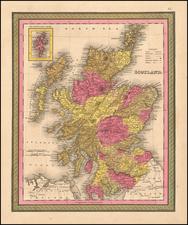 Scotland Map By Samuel Augustus Mitchell