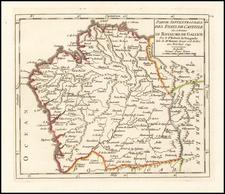 Spain Map By Didier Robert de Vaugondy