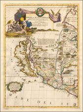 United States, Texas, Midwest, Southwest, North America and California Map By Vincenzo Maria Coronelli
