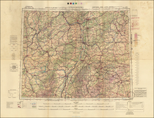 France and Germany Map By Geographical Section, War Office (UK)