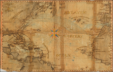 Atlantic Ocean, United States, Caribbean, South America, West Africa and America Map By Anonymous