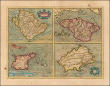 British Isles Map By Henricus Hondius