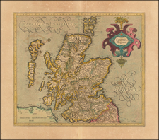 Scotland Map By  Gerard Mercator