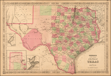 Johnson's New Map of the State of Texas By Alvin Jewett Johnson  &  Benjamin P Ward