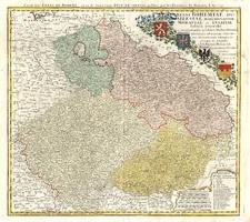Europe, Germany, Poland and Czech Republic & Slovakia Map By Johann Baptist Homann