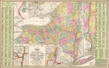 New York State Map By Thomas, Cowperthwait & Co.