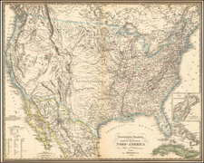 United States, Southwest and Rocky Mountains Map By Artaria & Co.