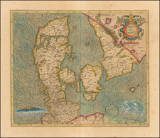 Scandinavia and Denmark Map By Gerhard Mercator
