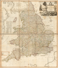 England Map By James Whittle / Robert Laurie