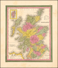 Scotland Map By Samuel Augustus Mitchell