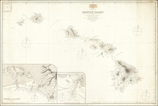 Hawaii and Hawaii Map By British Admiralty