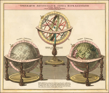 World and Celestial Maps Map By Johann Baptist Homann