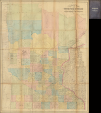 Midwest and Minnesota Map By Joseph Sewall