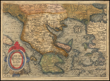 Greece Map By Johannes Matalius Metellus