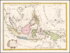 Southeast Asia, Philippines and Indonesia Map By Conrad Malte-Brun