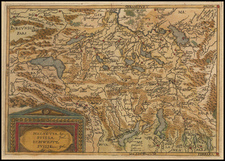 Switzerland Map By Johannes Matalius Metellus