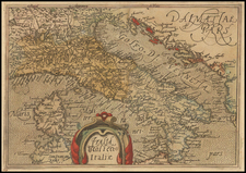 Italy Map By Johannes Matalius Metellus
