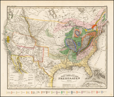 United States Map By Joseph Meyer