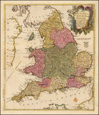 England Map By Leonard Von Euler