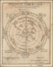 World, World, Celestial Maps and Curiosities Map By Lucas Janszoon Waghenaer