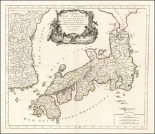 Japan and Korea Map By Paolo Santini