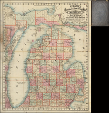 Michigan Map By George F. Cram