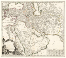 Middle East, Holy Land and Turkey & Asia Minor Map By Paolo Santini