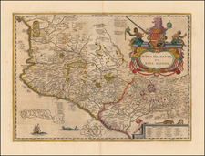 Mexico Map By Jodocus Hondius