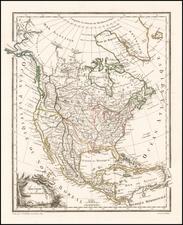 North America Map By Conrad Malte-Brun