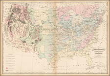 Asher & Adams' Geological Map United States and its Territories By Asher  &  Adams