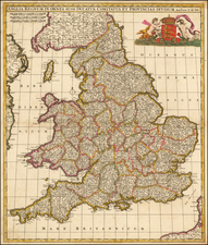 England Map By Frederick De Wit