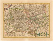 Hannonia Namurcum Comitatus By  Gerard Mercator