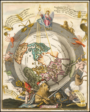 Northern Hemisphere, Polar Maps and Celestial Maps Map By Heinrich Scherer