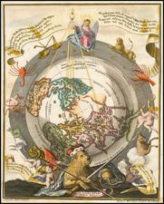 Northern Hemisphere, Polar Maps and Celestial Maps Map By Heinrich Scherer