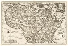 Africa and North Africa Map By Heinrich Scherer