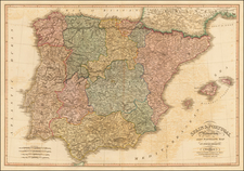 Spain Map By William Faden