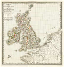 British Isles Map By J.M. Vicq