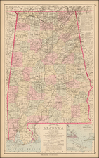 South and Alabama Map By O.W. Gray