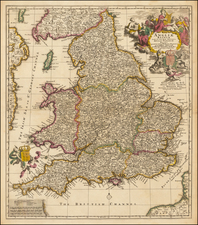 England Map By Nicolaes Visscher II
