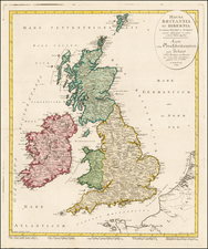 British Isles Map By Johann Walch