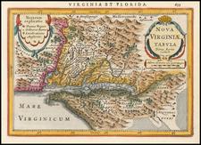Mid-Atlantic, Southeast and Virginia Map By Jan Jansson / Pieter van den Keere
