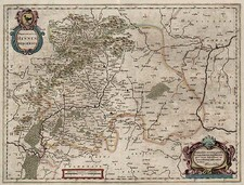 Europe and Germany Map By Jodocus Hondius