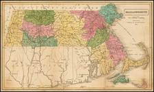 Massachusetts Map By Dorr, Howland & Company