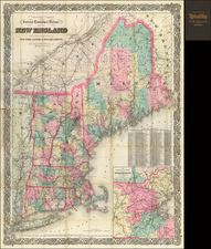 New England Map By G.W.  & C.B. Colton